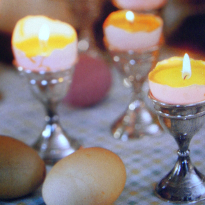 Ostern DIY Eier-Kerzen