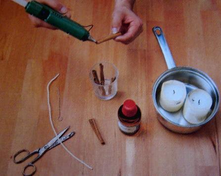 Brigitte von Boch Zimt-Kerzen basteln