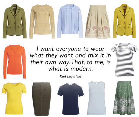 I want everyone to wear what they want and mix it in their own way. That, to me, is what is modern.