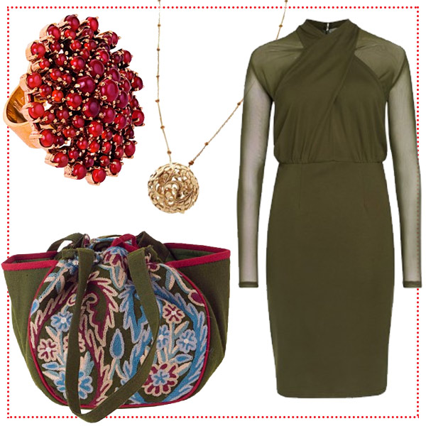 kleid-oliv-rot